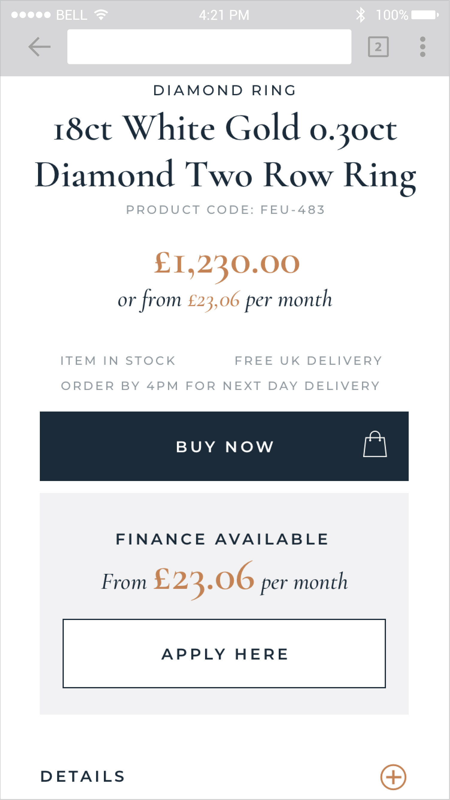 The British Diamond Company Product Detail