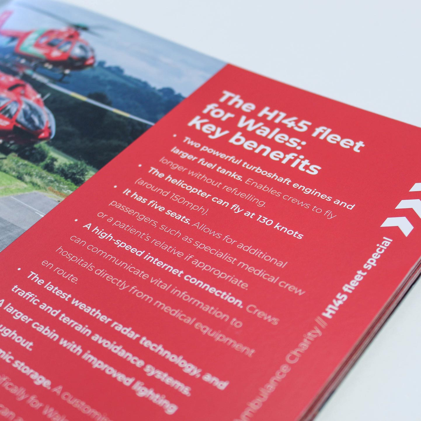 Wales Air Ambulance Annual Review Page Detail