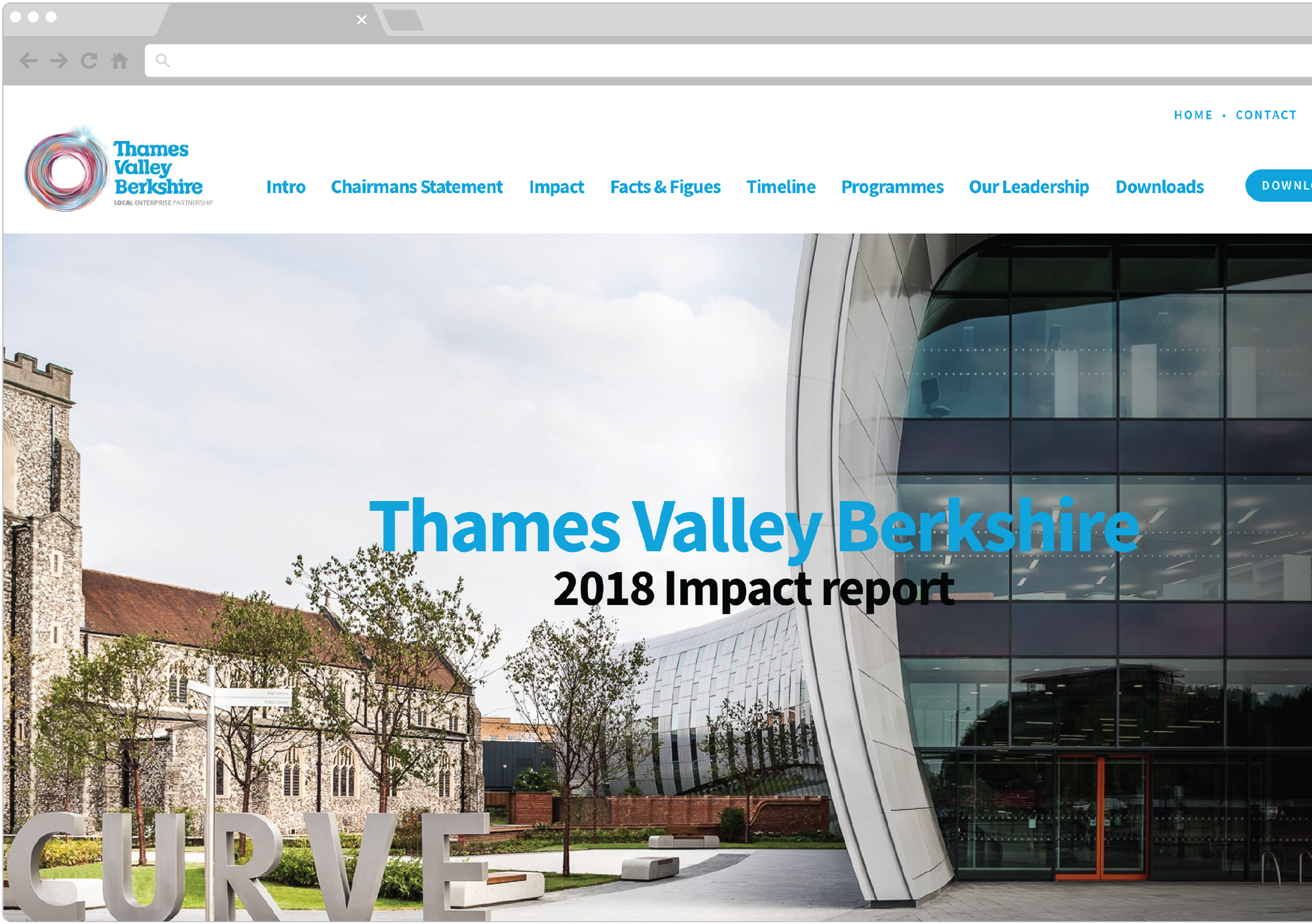 Thames Valley Berkshire Impact Report Website